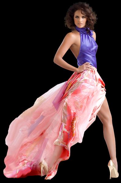 девушки в красивом прозрачном платье фото